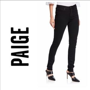 Paige Hoxton Ultra Skinny High Rise Black Jeans 31